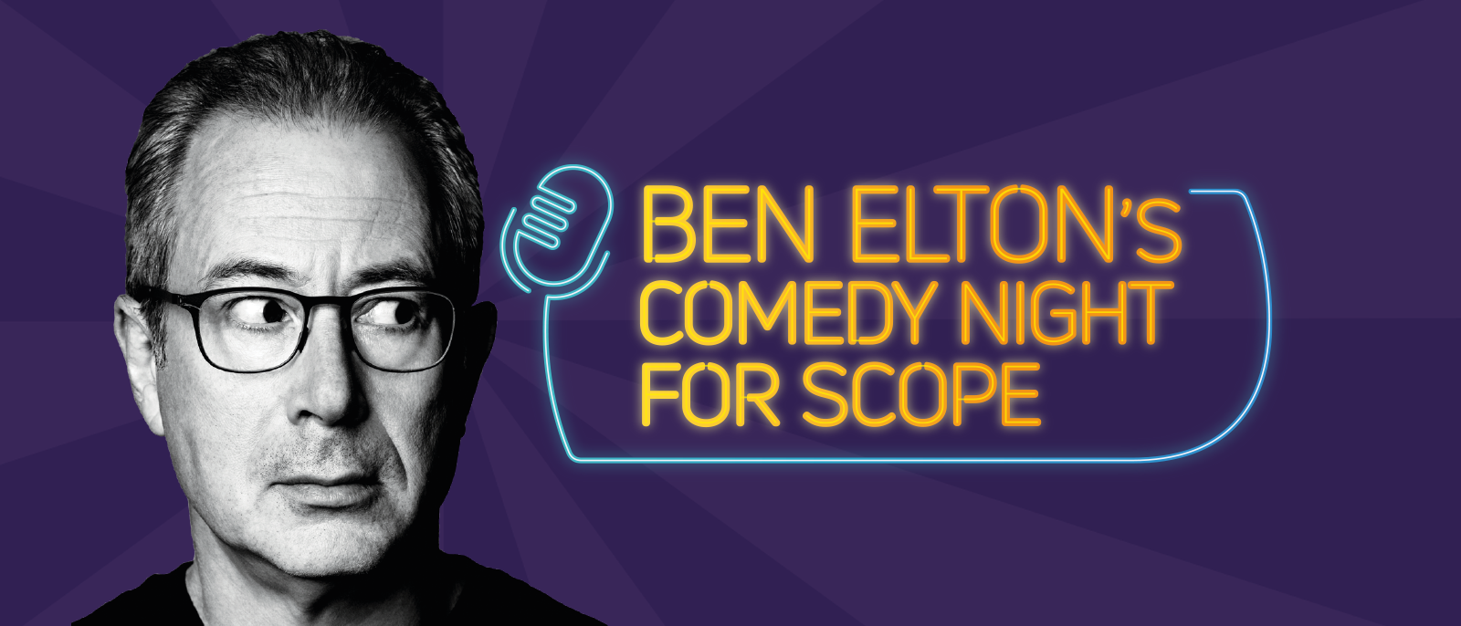 An advertisement for Ben Eltons Comedy Night for Scope